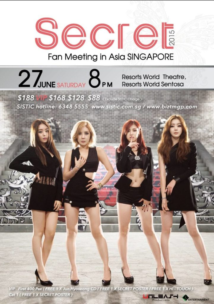 SECRET 1st Fan Meeting in Asia - Singapore