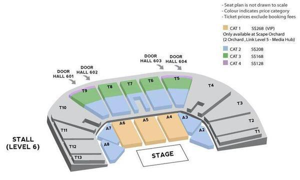 BEAST ORDINARY FANMEET IN SG SEATING PLAN sgXCLUSIVE