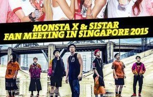 Monsta X and SISTAR Fanmeet in Singapore