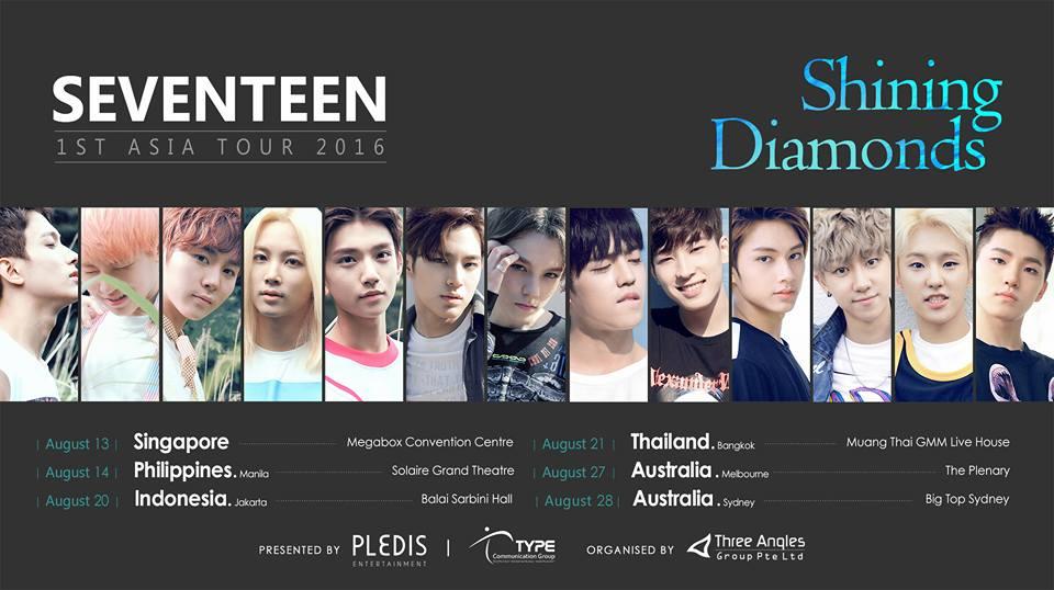 Seventeen 1st Asia Tour 2016 Shining Diamonds In