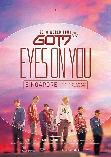 got7 to hold 2018 world tour eyes on you in singapore this august x clusive. Black Bedroom Furniture Sets. Home Design Ideas